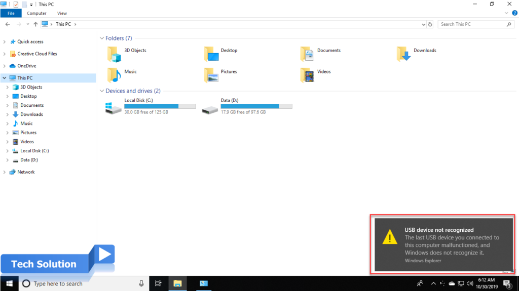 Easy Steps To Fix USB Device Not Recognized in Windows 10 1
