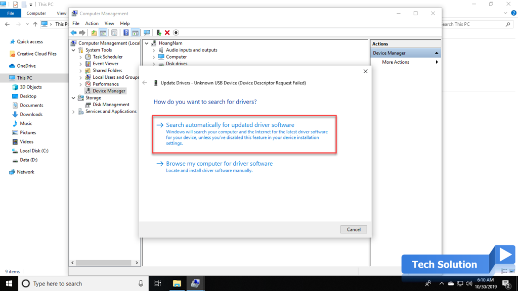 Easy Steps To Fix USB Device Not Recognized in Windows 10 5