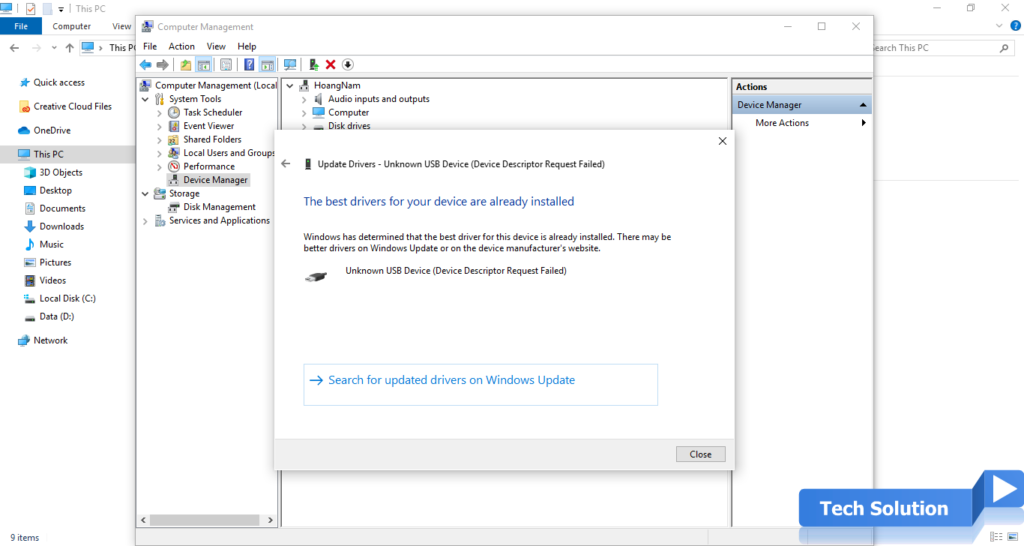 Easy Steps To Fix USB Device Not Recognized in Windows 10 7