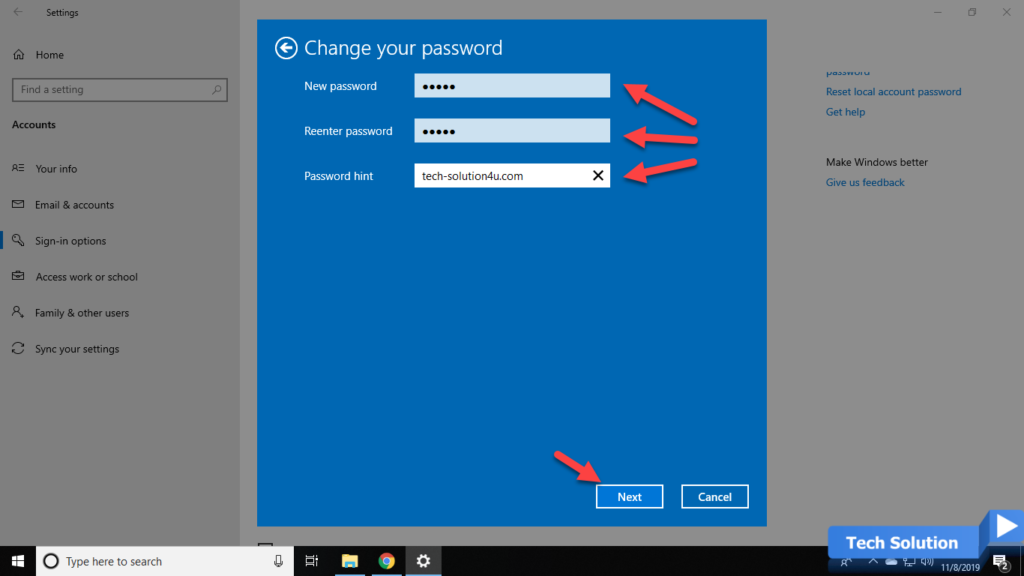 How to Change Your Password in Windows 10 -3
