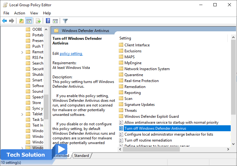 How to Turn Off Windows Defender in Windows 10 6