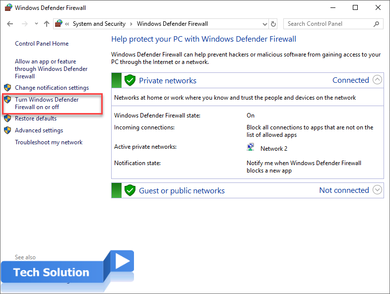 How to Disable the Windows Firewall in Windows 5