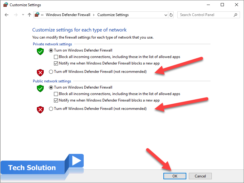 How to Disable the Windows Firewall in Windows 6