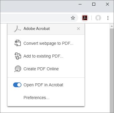 Download Adobe Acrobat Extension for Chrome 1
