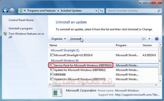 Install and Uninstall Service Pack 1 on Windows 7 3