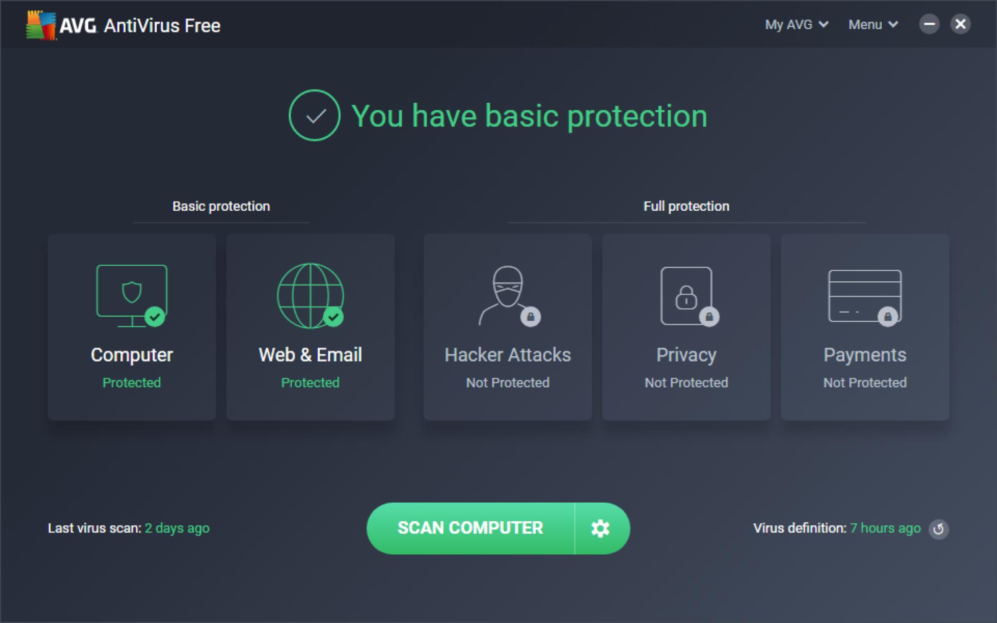 free download avg antivirus 2020